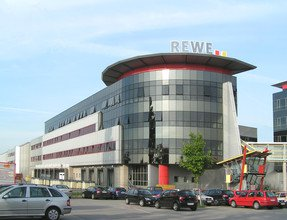 Der Firmensitz der REWE International AG in Wiener Neudorf.