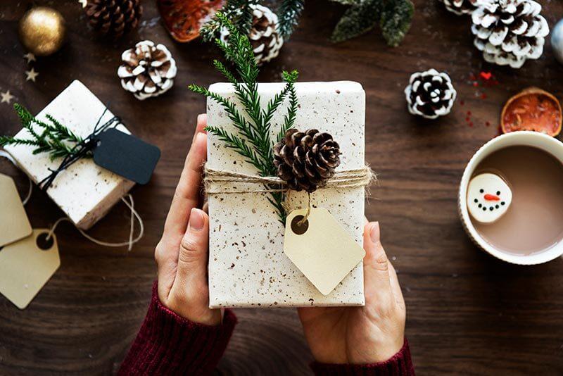 gruene Weihnachten verpackung