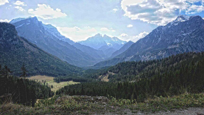Bergpanorama Gesäuse
