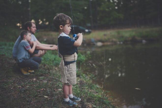 Kindesentwicklung: Angeln
