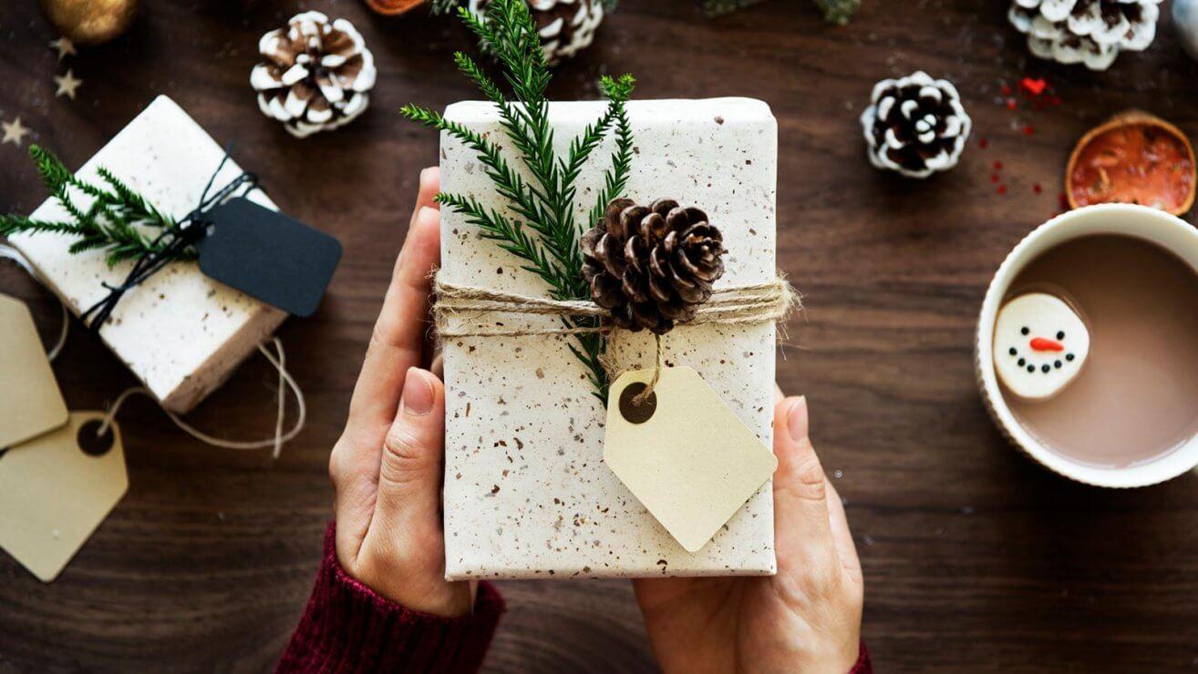 grüne Weihnachten Geschenk
