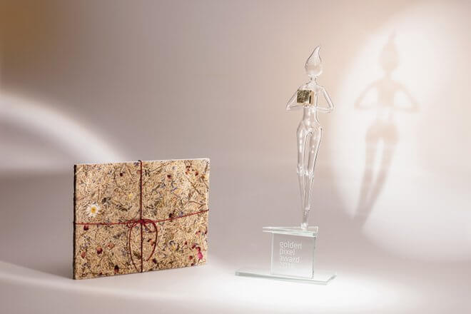 Golden Pixel Award für Blühendes Österreich Jahresbericht c Marian